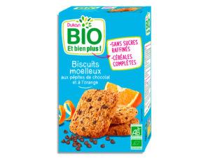 Biscuits moelleux aux pépites de chocolat et à l'orange