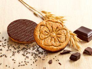 Biscuits nappés de chocolat et graines de Chia