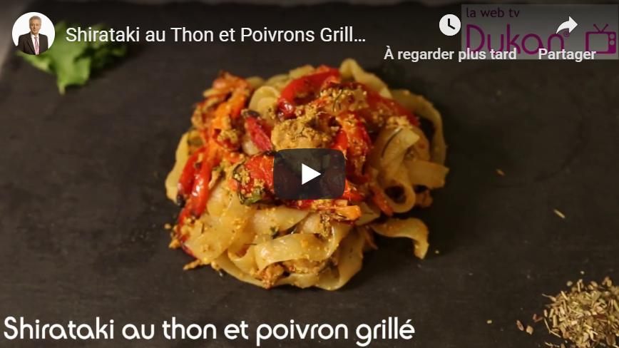 Shirataki au thon et poivron grillé