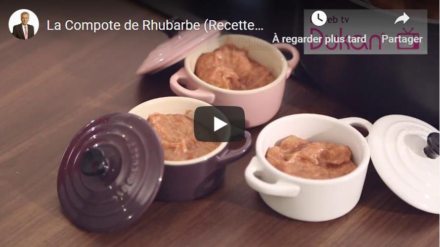 Recettes Dukan: compote de rhubarbe