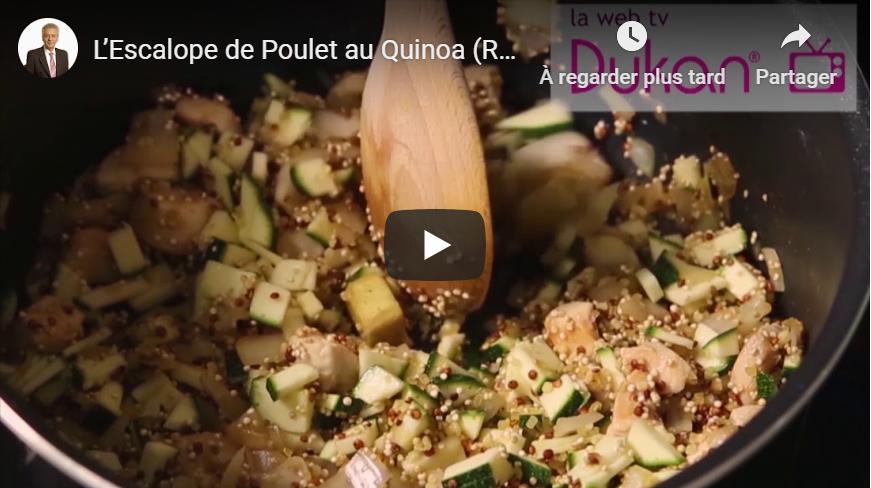Quinoa escalope et courgettes
