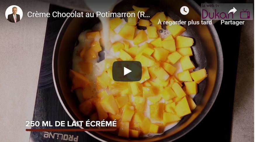 Crème chocolat au potimarron