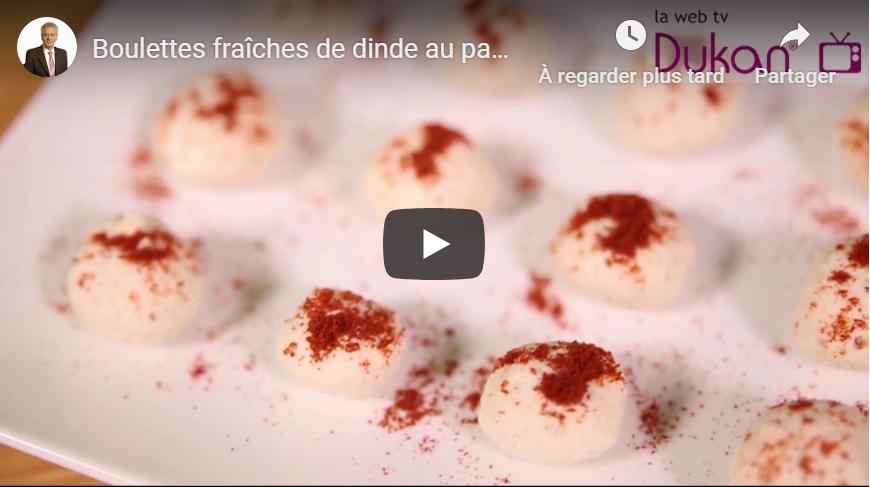 Boulettes fraîches de dinde au paprika