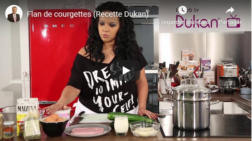 Flan de courgettes (Recette Dukan)