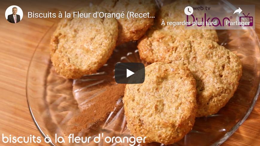 Biscuits à la Fleur d'Orangé (Recette Dukan)
