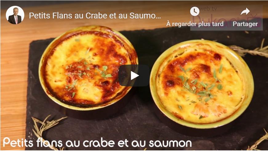 Petits Flans au Crabe et au Saumon (Recettes Dukan)