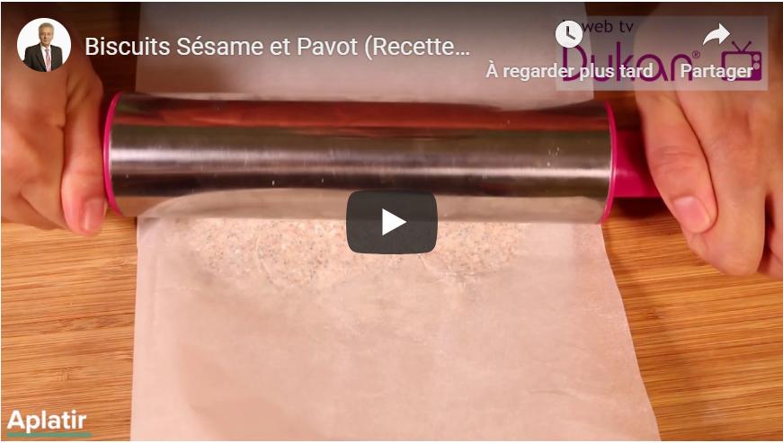 Biscuits Sésame et Pavot (Recette Dukan)