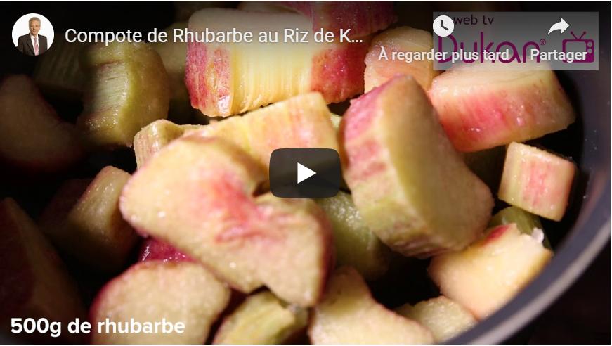 Compote de Rhubarbe au Riz de Konjac à la Crème Coco (Recette Dukan)