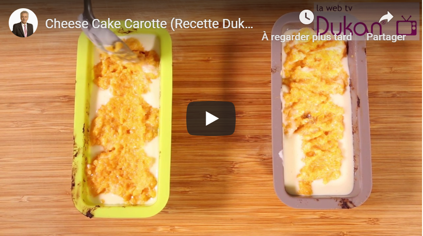 Cheese Cake Carotte (Recette Dukan)