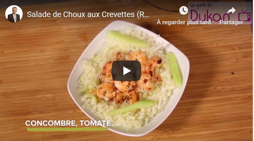 Salade de Choux aux Crevettes (Recette Dukan)