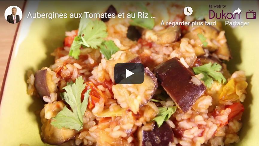 Aubergines aux Tomates et au Riz de Konjac (Recette Dukan)