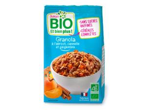 Granola à l'abricot, cannelle et gingembre