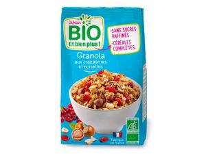 Granola aux cranberries et noisettes