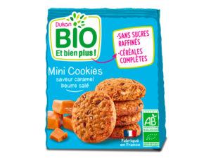 Mini cookies saveur caramel beurre salé