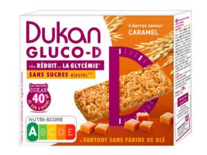 4 barres Gluco-D saveur caramel (30g l'unité)