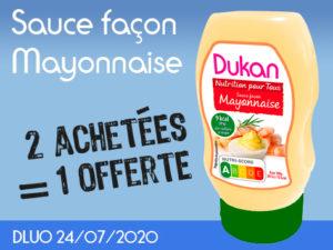 2 achetées Sauce façon mayonnaise = 1 offerte