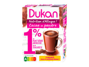 Cacao en poudre 1% de MG et 1% de sucres