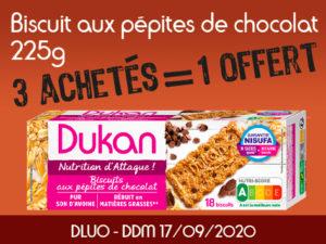 3 achetés Biscuits aux pépites de chocolat 225g = 1 offert