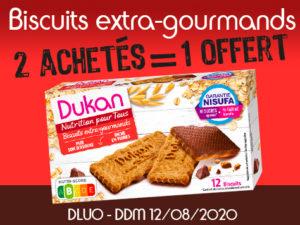 2 achètes Biscuits extra-gourmand= 1 offert