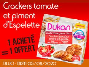 1 acheté Crackers tomate et piment d'Espelette = 1 offert