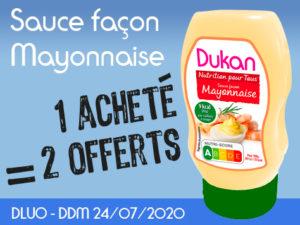 1 acheté Sauce façon mayonnaise = 2 offerts