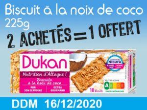 2 achetés Biscuits à la noix de coco 225g = 1 offert