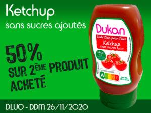 -50% Ketchup sans sucres ajoutés