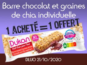1 acheté Barre au chocolat et graines de chia individuelle = 1 offert