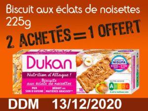 2 achetés Biscuits aux éclats de noisettes 225g = 1 offert