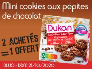 2 achetés Mini cookies aux pépites de chocolat = 1 offert