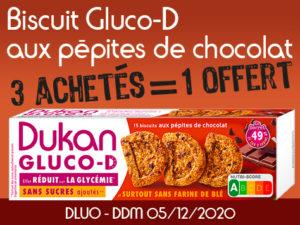 3 achetés Biscuits D aux pépites de chocolat = 1 offert