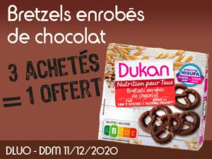 3 Achetés Bretzels enrobés de chocolat = 1 offert