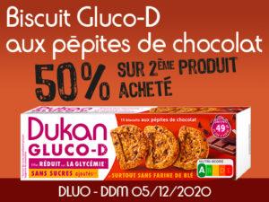 -50% Biscuits D aux pépites de chocolat