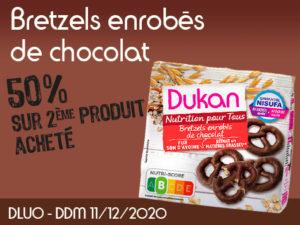 -50% Bretzels enrobés de chocolat