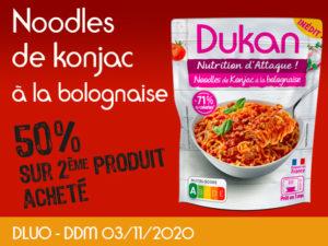 -50% Noodles de konjac à la bolognaise