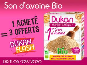 Dukan Flash ANTI GASPI: 1 acheté Son d'avoine  500g = 3 offerts