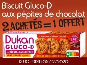 2 achetés Biscuits D aux pépites de chocolat = 1 offert