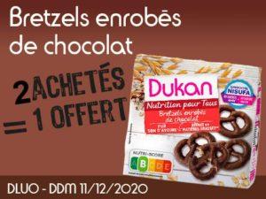 2 achetés Bretzels enrobés de chocolat = 1 offert