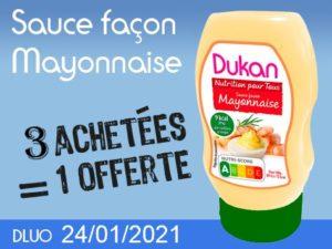 3 achetés Sauce façon mayonnaise = 1 offert