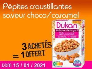 3 acheté Pépites croustillantes saveur choco-caramel = 1 offert