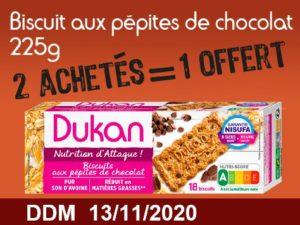 2 achetés Biscuits aux pépites de chocolat 225g = 1 offert