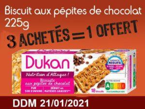 3 achetés Biscuits aux pépites de chocolat 225g= 1 offert