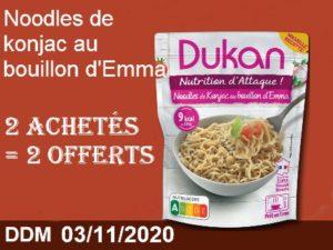 2 achetés Noodles de konjac au bouillon d'Emma = 2 offerts