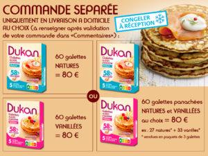Colis galettes fraiches (saveur nature + vanillée)
