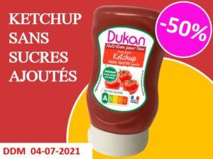 Ketchup sans sucres ajoutés DDM 04-07-2021