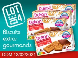 Lot de 4 Biscuits extra-gourmand