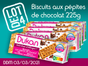 Lot de 4 Biscuits aux pépites de chocolat 225g