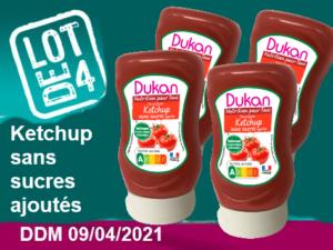 Lot de 4 Ketchup sans sucres ajoutés