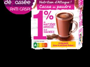 Anti Gaspillage – Cacao en poudre 1% de MG et 1% de sucres