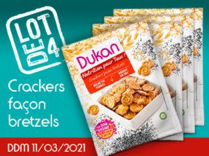 Lot de 4 Crackers façon bretzels
